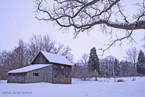 point pelee park ontario leamington snow winter barn wood