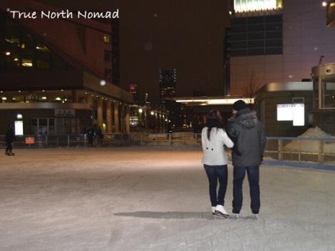 outdoor skate rink cold valentines
