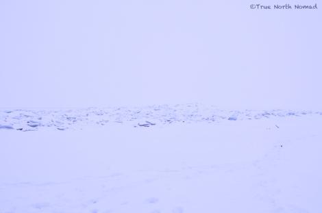 point pelee ontario ice lake river snow winter land sky