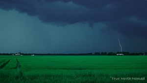 lightning strike farmers field chatham ontario