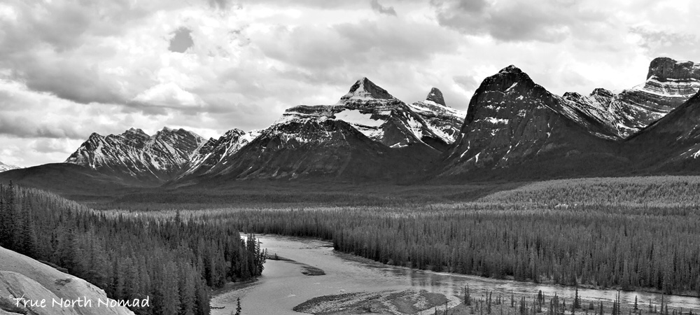 rockies mountain jasper alberta river