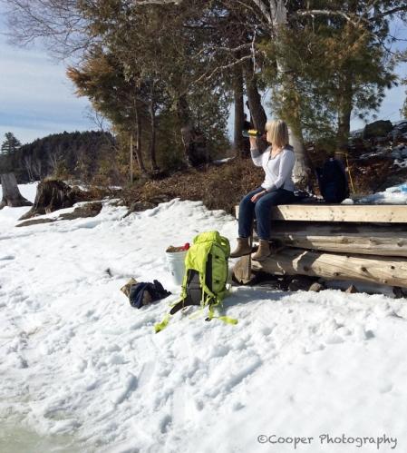 wine, hike, winter, sky