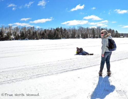 ice, snow, winter, hike