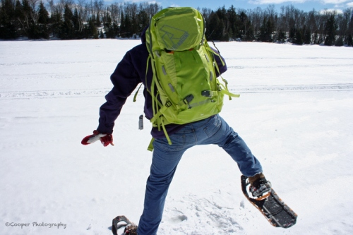 falling, ice, snowshoes, snow