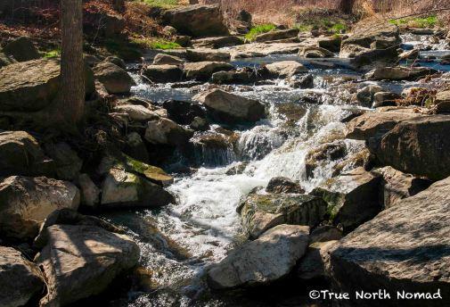 waterfall, rocks, stream, rapids
