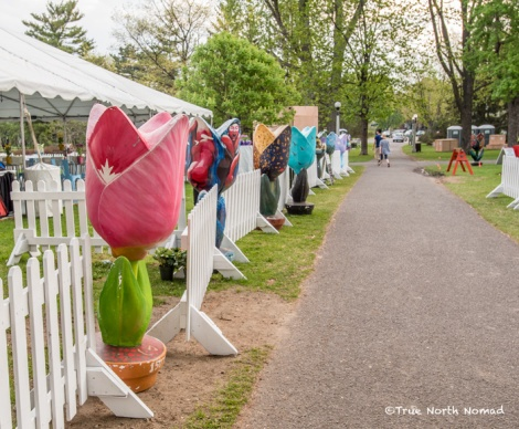 There were even wooden tulips... these people are serious about their tulips!