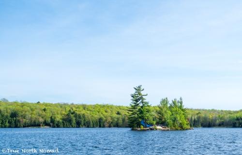 sunshine blue sky camping