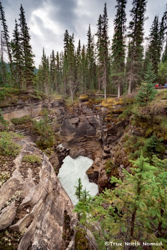 athabasca-waterfall-gorge-2