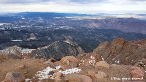 pikes peak, mountain, colorado