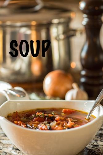 pasta fagioli soup warm food healthy delicious