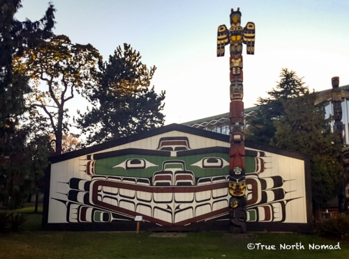 victoria, british columbia, First Nation long house, thunderbird park