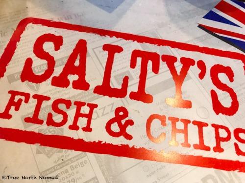 saltys, fish & chips, beer battered, British