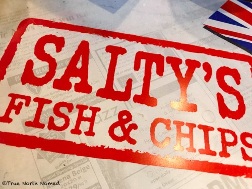 saltys, fish & chips, beer battered, British