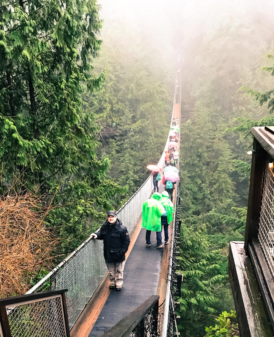 capilano suspension bridge, vancouver, british columbia, treetop adventure, cliff walk, canyon lights, travel, wanderlust